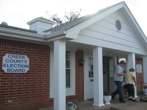 Election Station in Creek County